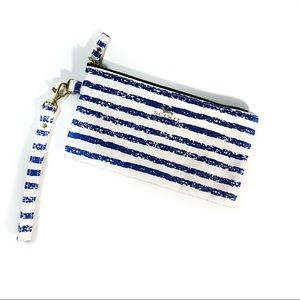 "Scout ""Kate"" wristlet blue and white stripes"
